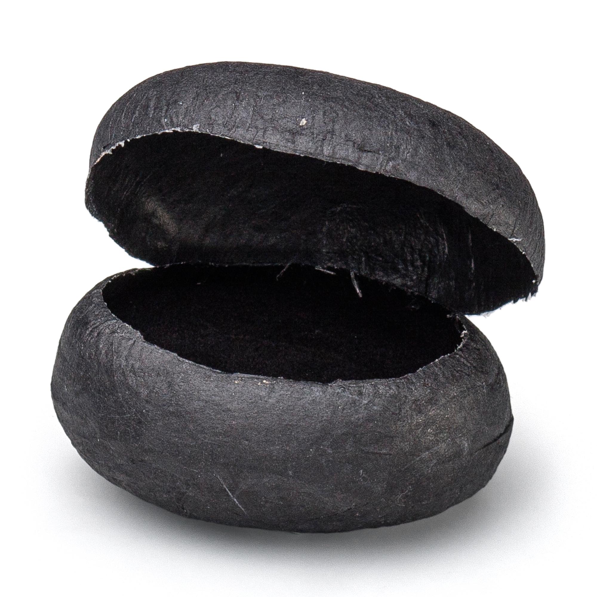 STONE Ring oval schwarz