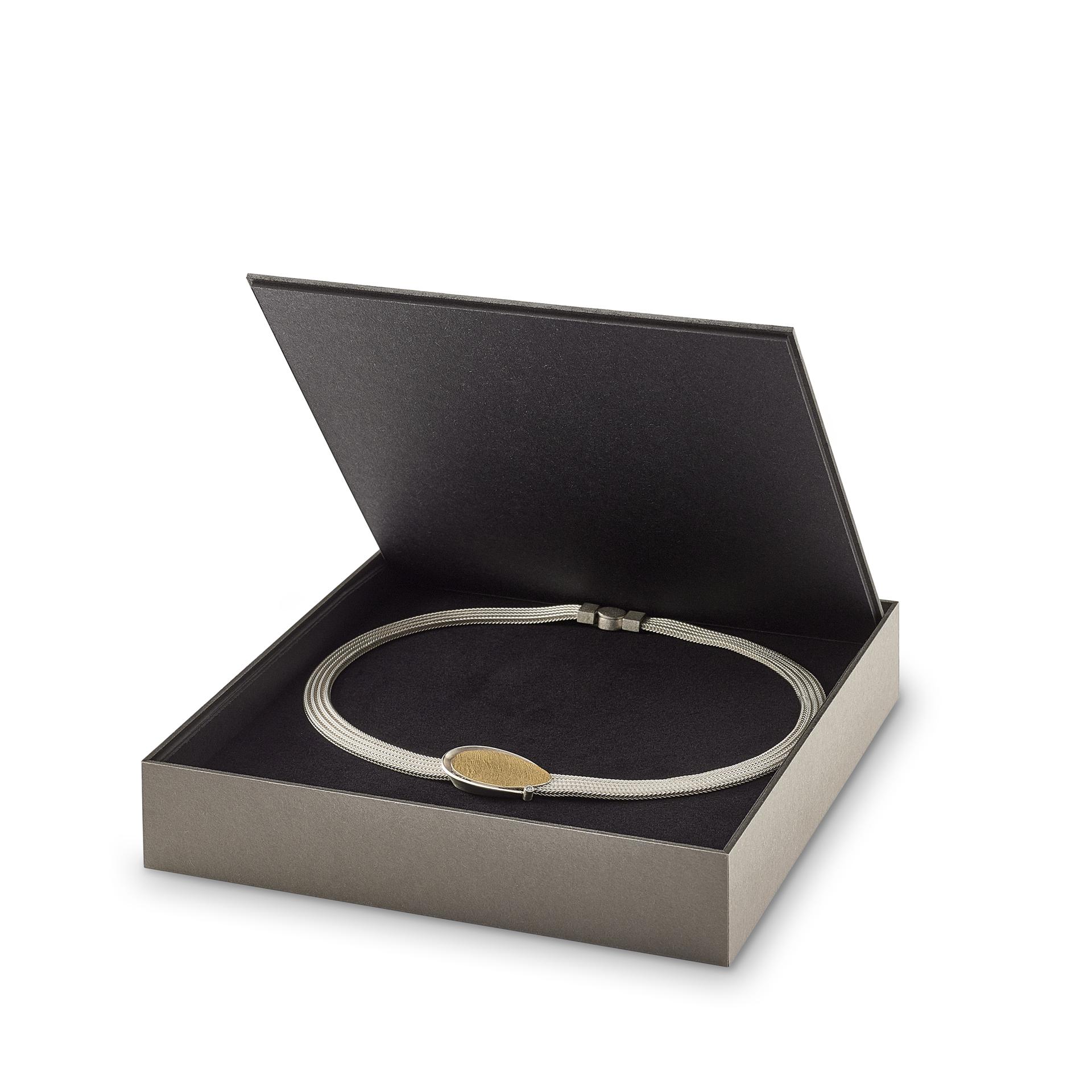 FLIPBOX necklace grey